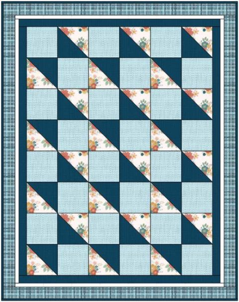 Allison Quilt in a Day Blue