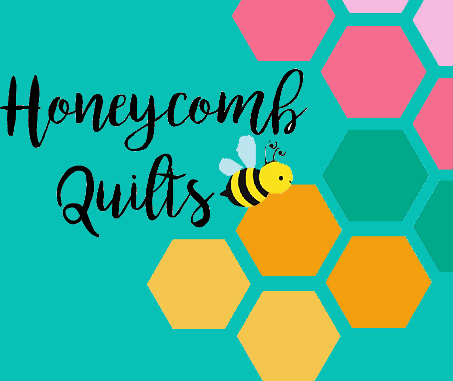 Honeycomb Quilts Logo 2 Color background